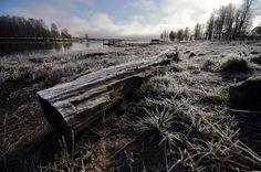 Kuusamo/Finland. Winter is knocking on the door, first signs.