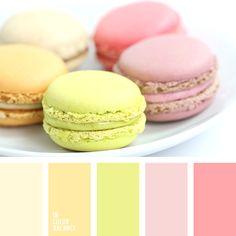 Color combination, color pallets, color palettes, color scheme, color inspiration. Macaroons inspiration.
