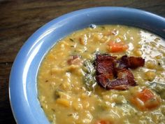Bacon & split pea soup...this is what's for dinner!