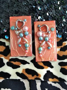 resin earrings-FREE SHIPPING-resin jewelry-statement