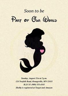 Little Mermaid Ariel Baby Shower Customizable Invitation [Digital File] - Trend Disney Party 2020