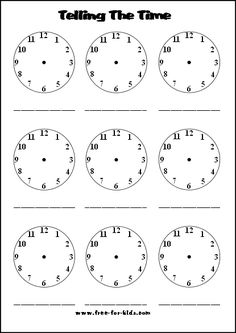 telling time worksheet I will say the time in Spanish the kids will need to write what I say down and put the correct time on the clock. Teaching Time, Student Teaching, Clock Worksheets, Learn To Tell Time, Math Classroom, Maths, 1st Grade Math, Second Grade, Early Math