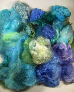 Turquoise/Green/Violet/Blue Mixed Fiber Bag for by yarnwench, $30.00