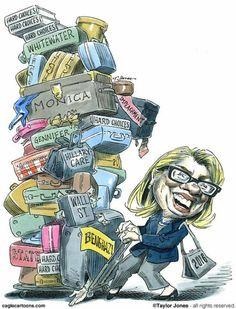 Hillary Clinton Cartoons: Hillary Clinton's Baggage