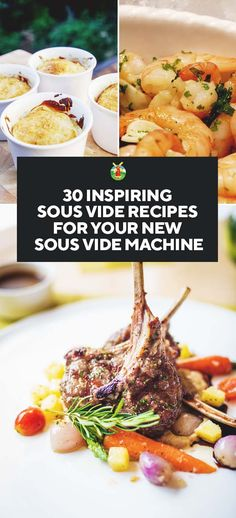 Have you recently bought into the Sous Vide Machine craze, but fear you may now have a white elephant sitting in your kitchen? We have 30 excellent sous vide recipes ranging from breakfast right through to dessert to help you utilize your shiny Sous Vide Recipes Anova, Anova Recipes, Instant Pot Sous Vide, Joule Sous Vide, Great Recipes, Healthy Recipes, Healthy Cooking, Favorite Recipes, Healthy Foods
