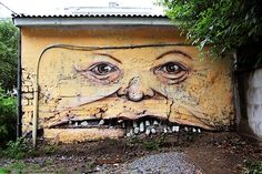 "Streetart: ""The Living Wall"" by Nikita Nomerz"