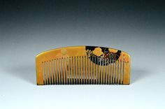 Vintage Gold Lacquer Hair Comb  Vintage Gold by JapaVintage