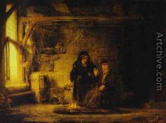 Tobit's Wife with a Goat - Rembrandt Van Rijn