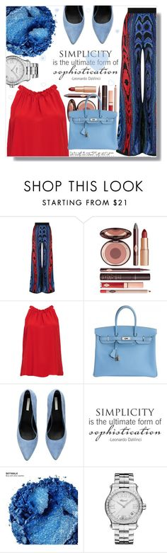 """""""There is Beauty in Simplicity"""" by xwafflecakezx ❤ liked on Polyvore featuring Balmain, Charlotte Tilbury, DailyLook, Hermès, WALL, Urban Decay and Chopard"""