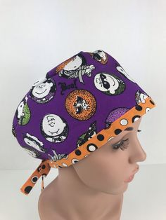 Charlie Brown Hallowing Pixie Cap – Oksana's Creations Classic Style, Style Me, Surgical Caps, Pixie Styles, Scrub Hats, Drip Dry, Charlie Brown, Different Styles, Making Out