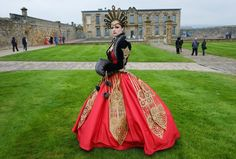 Amy Smith from Cheshire. Picture by Ian Forsyth from the Guardian. Whitby goth weekend April 2014.