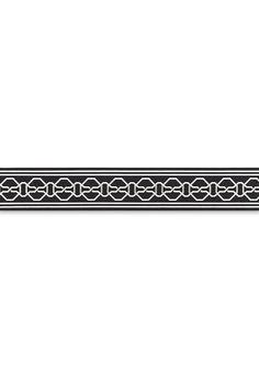 Trim | Malmaison Tape in Noir / Swan | Schumacher