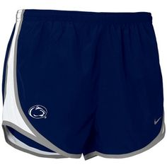 Nike Penn State Nittany Lions Women's Navy Blue Dri-FIT Tempo... ($25) ❤ liked on Polyvore featuring activewear, activewear shorts, navy, nike sportswear, nike activewear and nike
