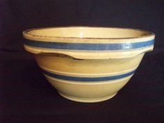 Shop for everything but the ordinary. More than sellers offering you a vibrant collection of fashion, collectibles, home decor, and more. Earthenware, Stoneware, Blue Yellow, Blue And White, Mixing Bowls, Gadgets And Gizmos, Cottage Living, Vintage Pottery, Vintage Yellow