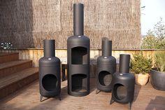 Gas bottle chimenea