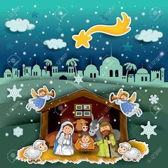 Buy Crib Landscape Collage by iostephy on GraphicRiver. Nativity of landscape collage effect – transparency and blending effects gradient mesh-EPS 10 Christmas Collage, Christmas Nativity, Christmas Fun, Christmas Templates, Christmas Stickers, Seasonal Image, True Meaning Of Christmas, Birth Of Jesus, Clipart