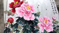 How to Paint Peony in Chinese painting