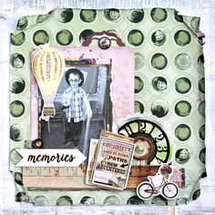 Curiosity Leads Us Scrapbook Page featuring Beautiful Dreamer and I Heart Stars Stamps by BoBunny designed by Rhonda Van Ginkel. #BoBunny @snapwhiz