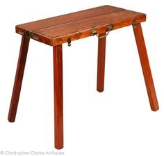 Antique Campaign Stool by Charles Green  Height:	13 ins (33.02 cm) Width:	14.25 ins (36.20 cm) Depth:	10.5 ins (26.67 cm)  For Jim