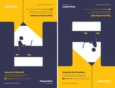 Guardian advertising>>Some more BAH-Rilliant Minimalist posters!