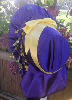 Purple Satin 1861-1862 Civil War Bonnet