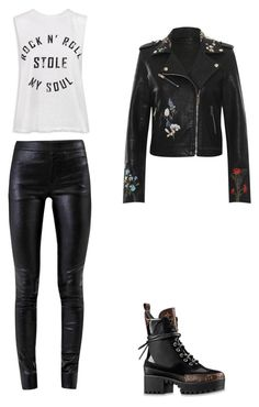 """""""Untitled #24"""" by anastasiatotokotsi on Polyvore featuring Helmut Lang, Sans Souci, Louis Vuitton and WearAll"""
