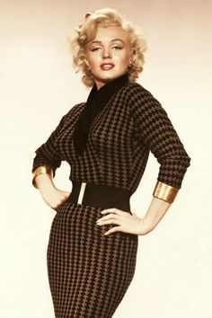 Marilyn Monroe's Brown Check Dress