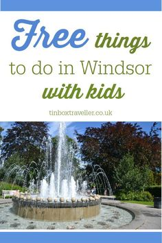 Fans of the British Royal Family will love a day out in Windsor, but it needed cost the crown jewels. Here's five free things to do in Windsor with kids and where to splash the cash if you're feeling flush Days Out With Kids, Family Days Out, Things To Do In London, Free Things To Do, Family Adventure, Adventure Travel, Travel With Kids, Family Travel, Day Trips Uk