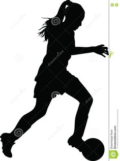 Illustration about Woman soccer player silhouette vector. Illustration of atack, girl, world - 73314198 Soccer Pro, Soccer Drills, Girls Soccer, Football Players, Soccer Stuff, Girl Silhouette, Silhouette Vector, Football Field, Football Soccer