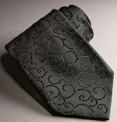 "Swarovski Crystal neck tie! Reminds me of the Dolce & Gabbana ""Oscar Wilde"" collection :)"