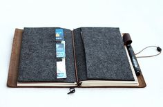 Refillable Leather Journal // Leather Notebook // by PapergeekMY