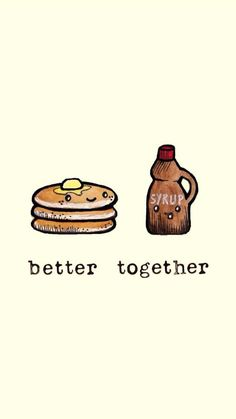 better together wallpaper; Cute Backgrounds, Cute Wallpapers, Wallpaper Backgrounds, Iphone Wallpaper, Cute Food Wallpaper, Kawaii Wallpaper, Cute Images For Wallpaper, Cute Puns, Friends Wallpaper