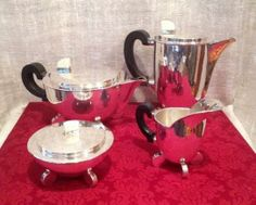 Tea Set by Kaeser & Ulhmann Germany 1925-34 www.glamourantiques.com