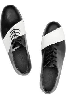 Linea striped leather brogues