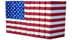 American Flag Book Set   Juniper Books  - high ticket book collection