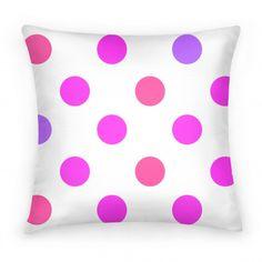 Big Polka Dot Pillow (pink) | HUMAN