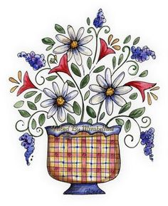 Country flowers #clipart