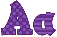 Purple 5In Sassy Font