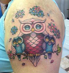 Black Widow Custom Tattoo & Design - OWL FAMILY TATTOO