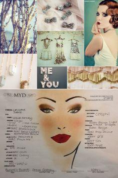 3 flawless makeup color palettes for your wedding Great Gatsby Makeup, Great Gatsby Party, Wedding Day Makeup, Bridal Makeup, Pin Up Makeup, Beauty Makeup, Maquillaje Pin Up, Stage Beauty, Vintage Makeup