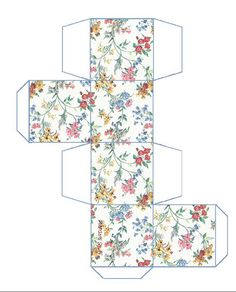 Floral Pattern Cube Box Cut Out