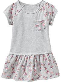 Floral-Print Jersey Dresses for Baby Product Image Baby Girl Dress Patterns, Baby Dress, Toddler Girl Dresses, Little Girl Dresses, Toddler Fashion, Kids Fashion, Kids Dress Wear, Girls Dresses Online, Sweet Dress