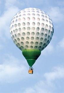 Hopefully we'll see one of these this weekend as we visit the Bristol International Balloon Fiesta!   www.getintogolf.org