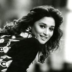 Madhuri Dixit #bw #BackandWhite #love #beautiful #women #pretty