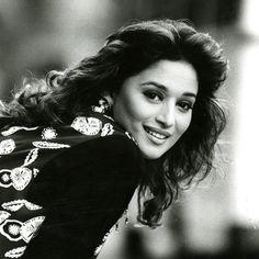 Madhuri Dixit #bw #BackandWhite #love #beautiful #women #pretty