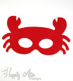 Embroider an easy and cute costume piece with this Crab mask digital ITH embroidery design! Perfect for beach or crab themed costumes and parties! You will receive two sizes of this design: - x - x This design is created for use with an Crab Costume, Lobster Costume, Dinosaur Mask, Image Chart, Printable Masks, Felt Mask, Cute Costumes, Carnival Costumes, Embroidery Scissors
