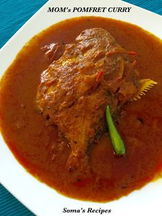 CURRY AND SPICE: MOM's POMFRET CURRY