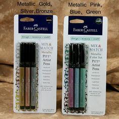 Club Scrap - Faber-Castell Metallic PITT Artist Pen 3-Pk #2404