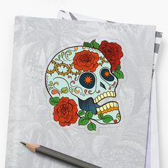 Promote | Redbubble Sugar Skull Design