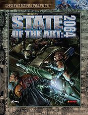 State of the Art: 2064 | Book cover and interior art for Shadowrun Third Edition - SR3, 3rd Ed, 3E, science fiction, sci-fi, scifi, scify, Roleplaying Game, Role Playing Game, RPG, FASA Games Inc., FASA Corporation, Ral Partha Europe Ltd. | Create your own roleplaying game books w/ RPG Bard: www.rpgbard.com | Not Trusty Sword art: click artwork for source